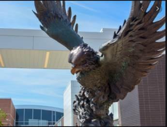 Jayhawk sculpture