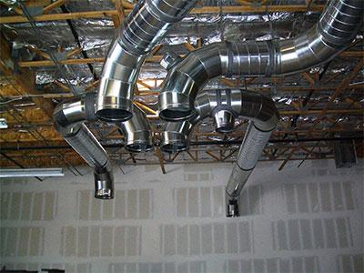 Sheet Metal Construction Ceiling