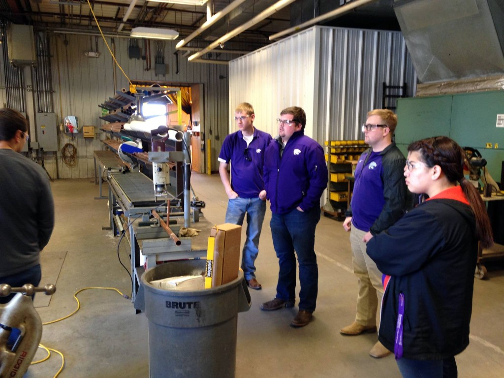 K-State MCA students tour P1 Lawrence fabrication shop