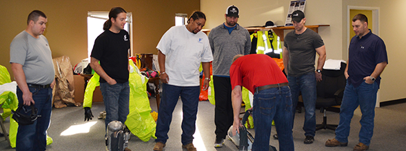 P1 technicians receive emergency response training