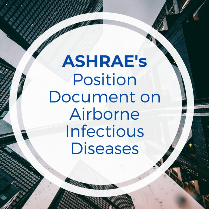 ASHRAE's Position Document on Airborne Infectious Diseases