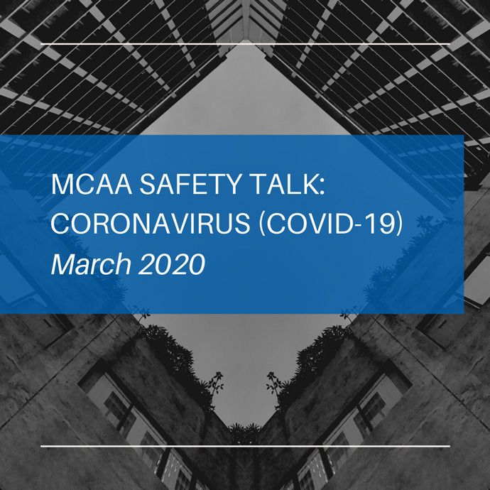 MCAA Safety Talk: Coronavirus (COVID-19) - March 2020
