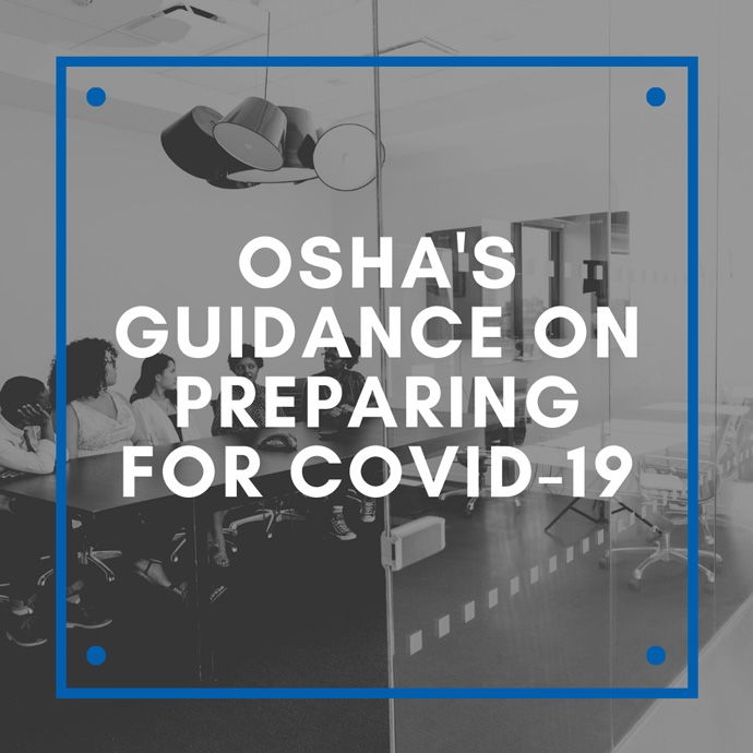 OSHA's Guidance on Preparing for COVID-19